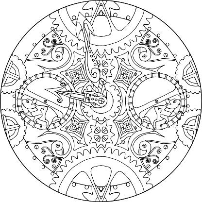 Mandala Hamster Clock