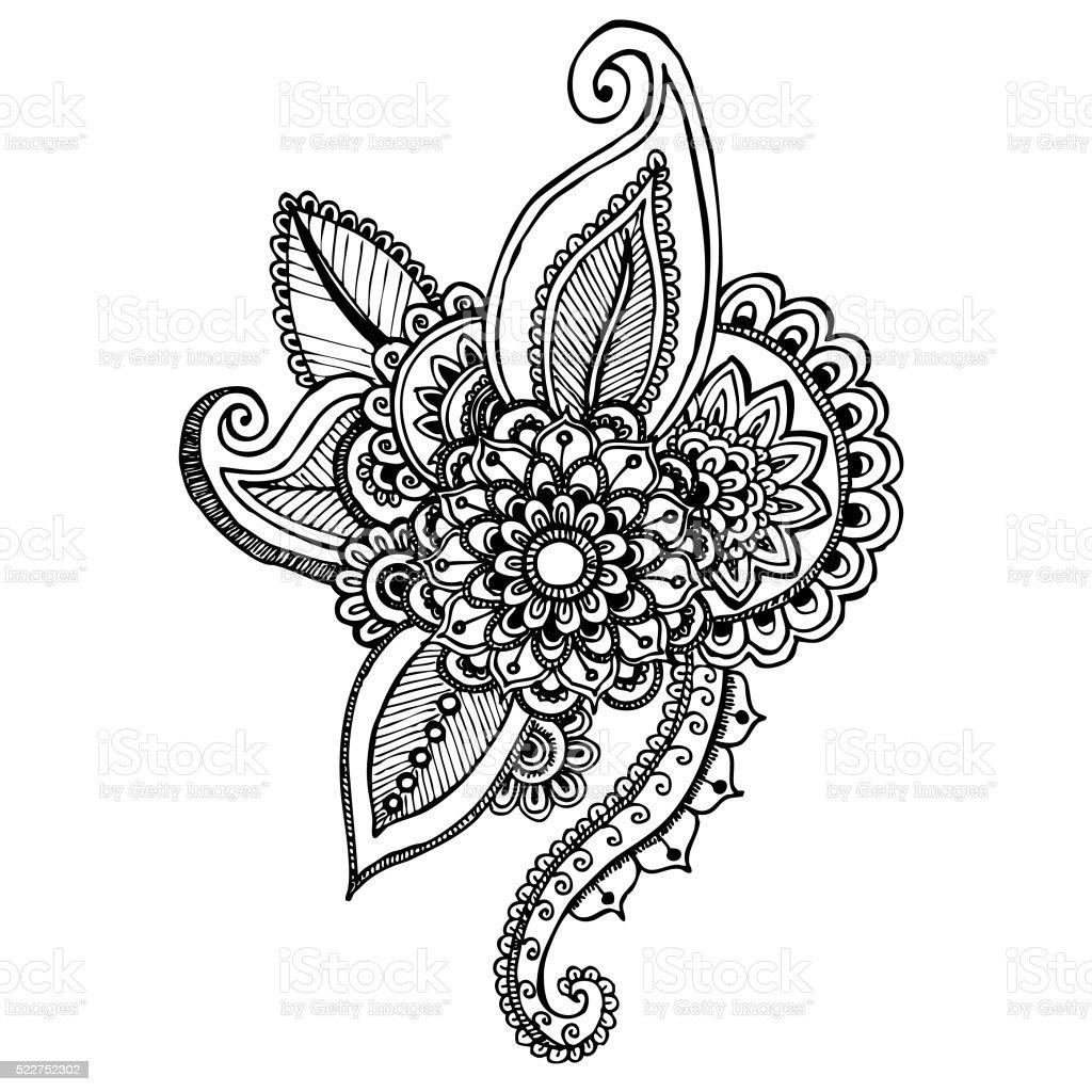 Mandala-ornament ilustración dibujado mano - ilustración de arte vectorial