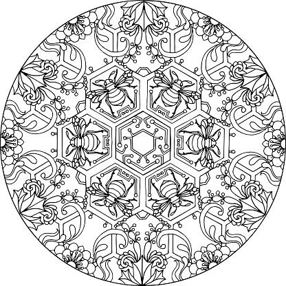 Mandala Hexa Bee