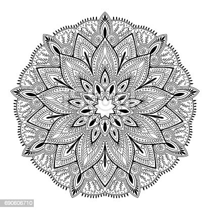 mandala, highly detailed inspired illustration, ethnic tribal tattoo motive, black and white