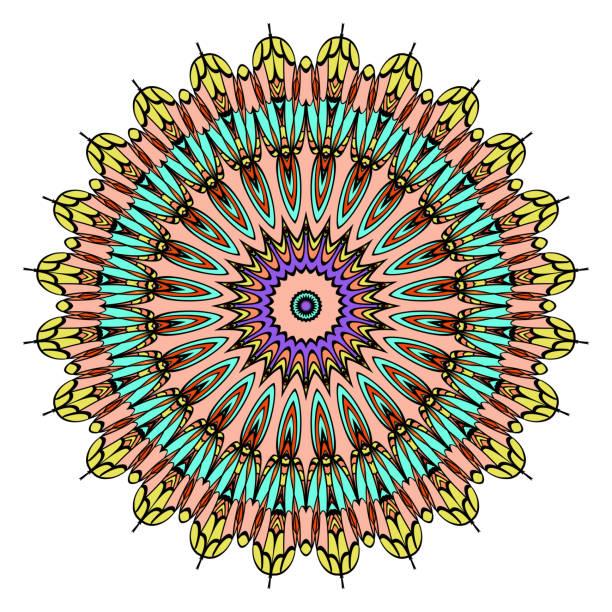マンダラは、非常に詳細なベクトル図、民族部族の入れ墨の動機。抗ストレスのイラスト - アジアのタトゥー点のイラスト素材/クリップアート素材/マンガ素材/アイコン素材