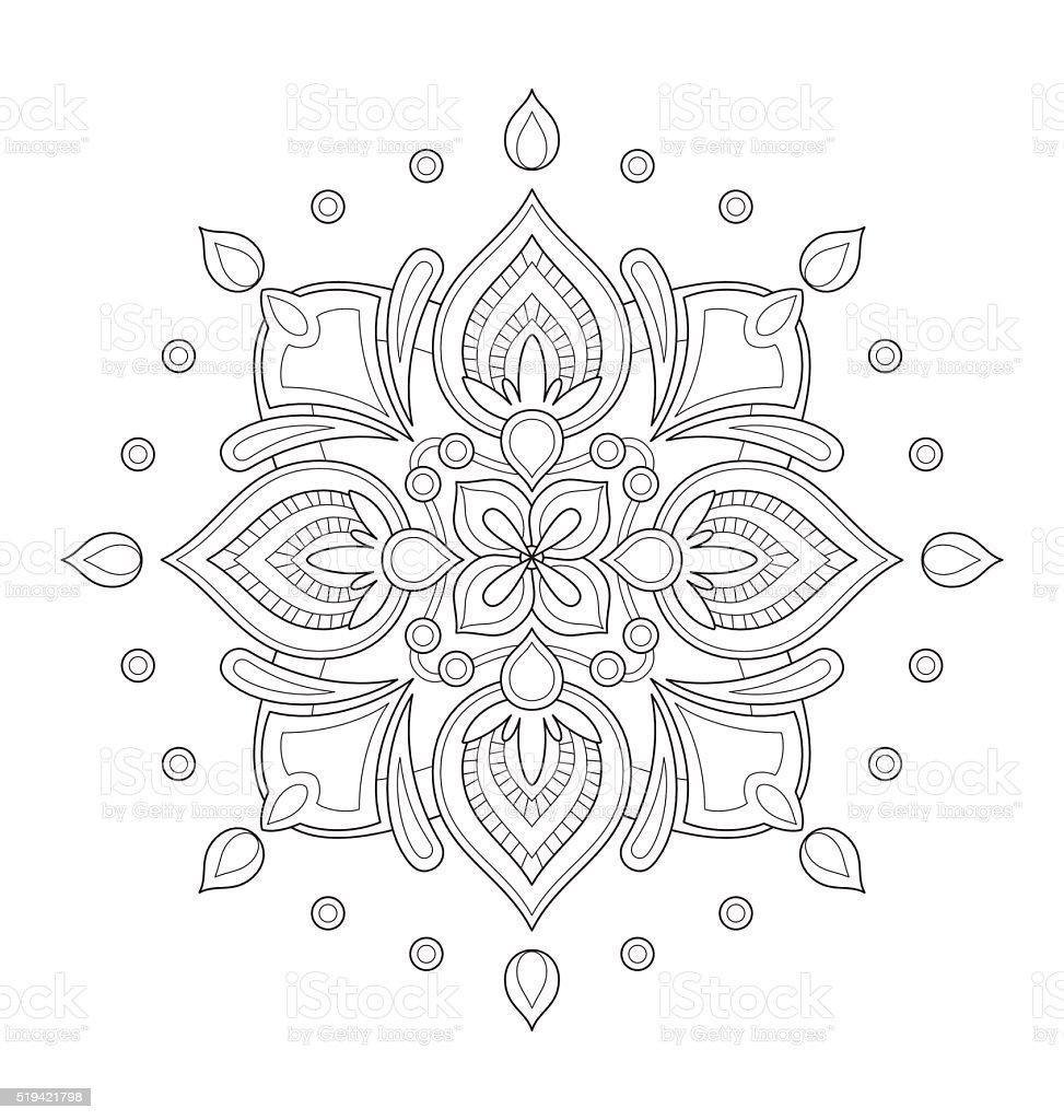 Illustration De Mandala Pour Adulte Coloriage Vecteurs Libres De Droits Et Plus D Images Vectorielles De Abstrait Istock