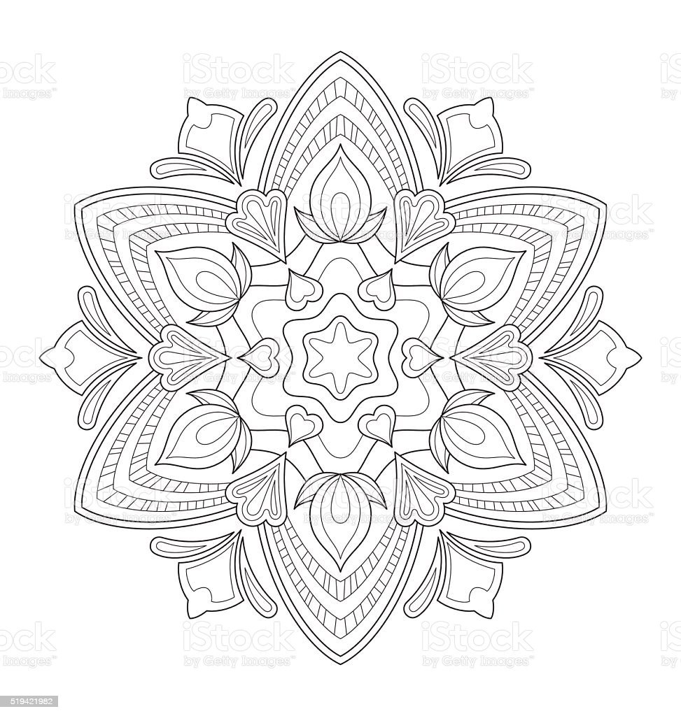 illustration de mandala pour adulte coloriage illustration de mandala pour adulte coloriage cliparts vectoriels et - Mandala Pour Adulte
