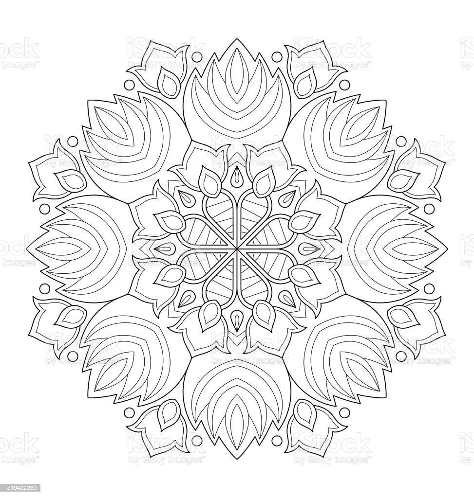Coloriage De Mandala Pour Adulte.Illustration De Mandala Pour Adulte Coloriage Vecteurs Libres De