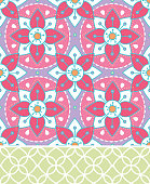 Mandala & Lattice Seamless Repeating Vector Pattern