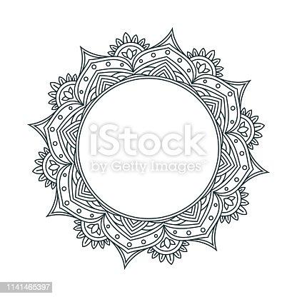 istock Mandala Line Drawing Design 1141465397