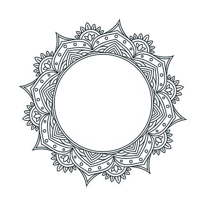 Mandala Line Drawing Design