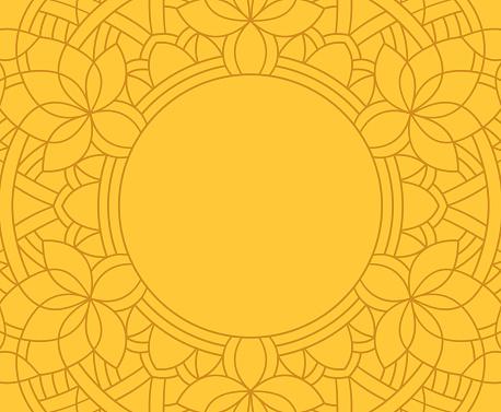 Mandala Line Frame Background