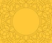 istock Mandala Line Frame Background 1264393479