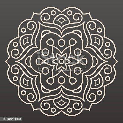 Mandala line drawing design idea.