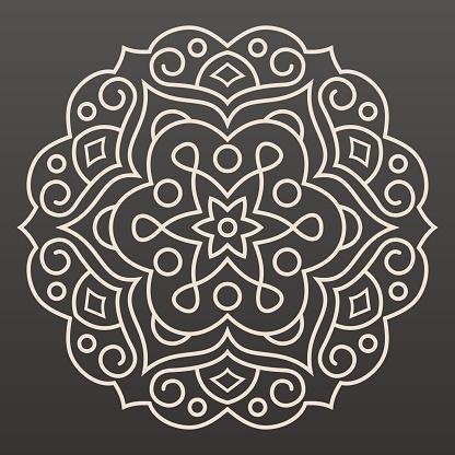 Mandala Line Illustration