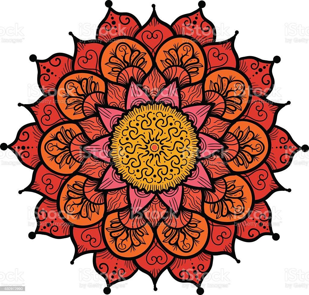 Mandala Line Template vector art illustration