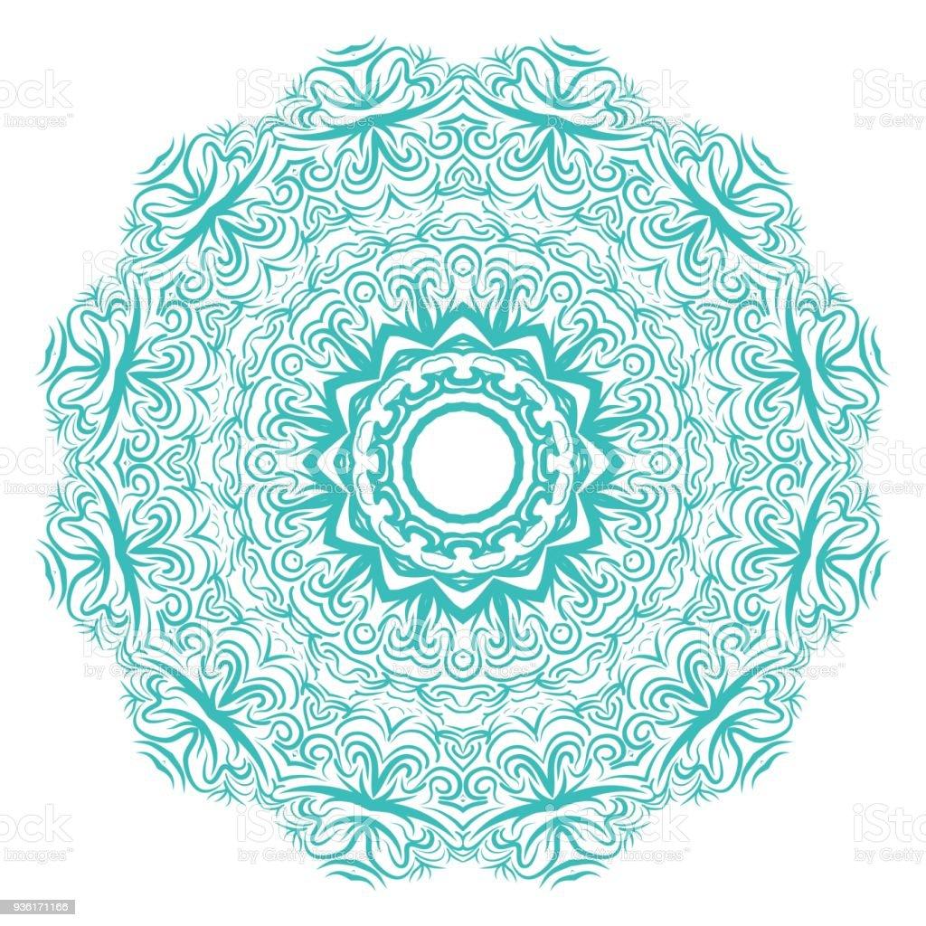 Ilustración De Mandala Sobre Un Fondo Blanco Hermosos Motivos