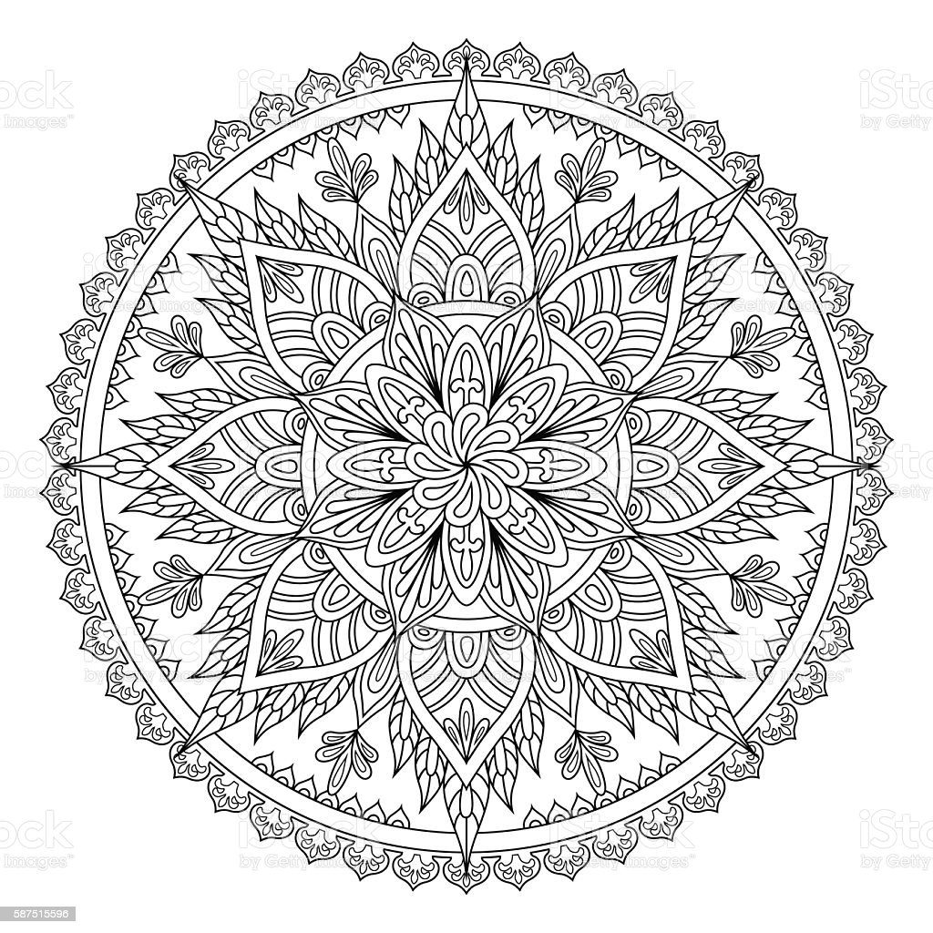 Mandala oriental pattern vector art illustration