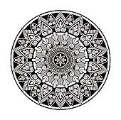 Floral mandala pattern white background
