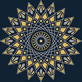 Mandala pattern color good mood