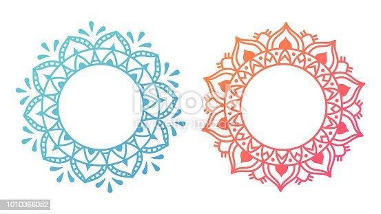 Mandala pattern designs with space for copy.