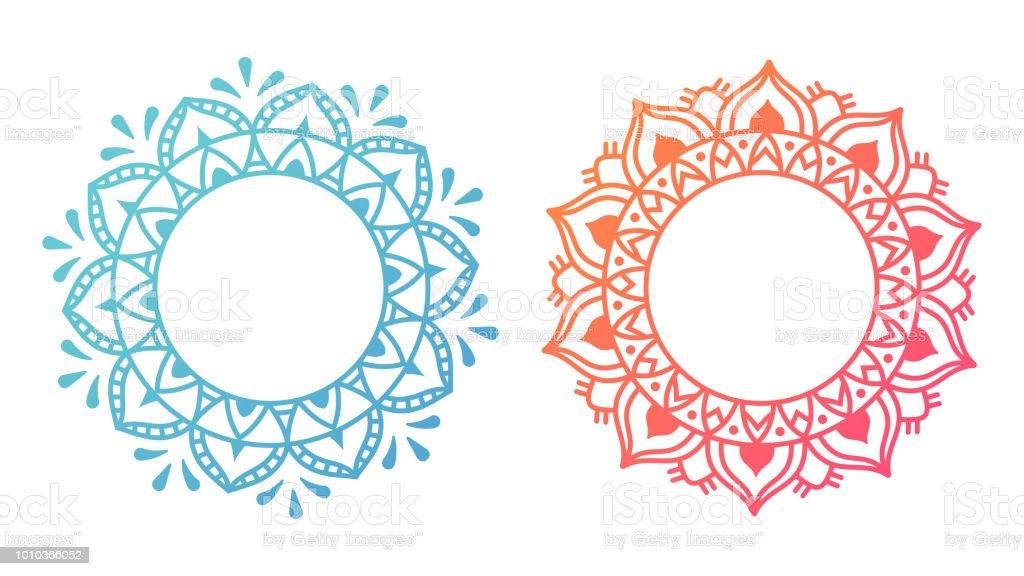 Mandala Pattern Designs vector art illustration