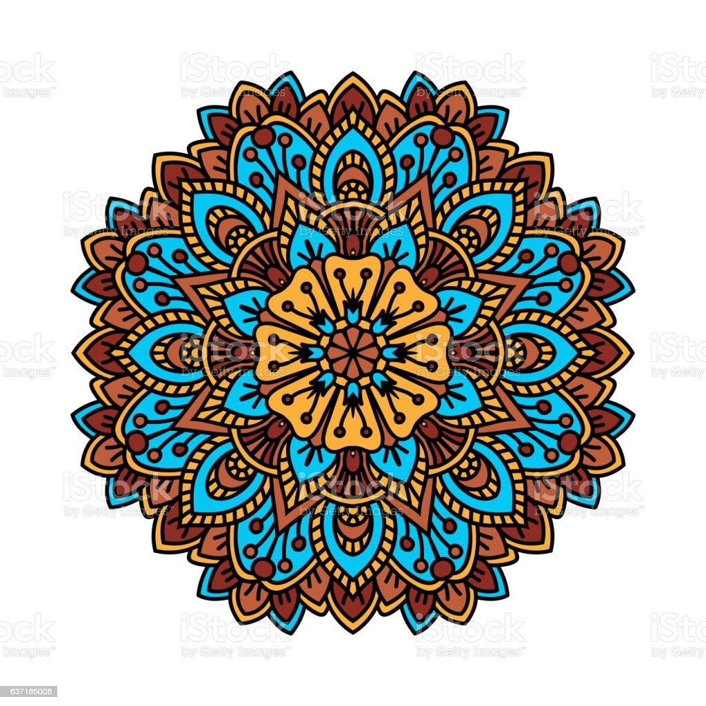 Mandala pattern flower vector. vector art illustration
