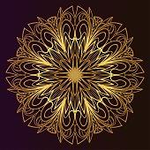 Mandala pattern. Traditional indian mandala. Orient tribal circle sign illustration. Vector illustration