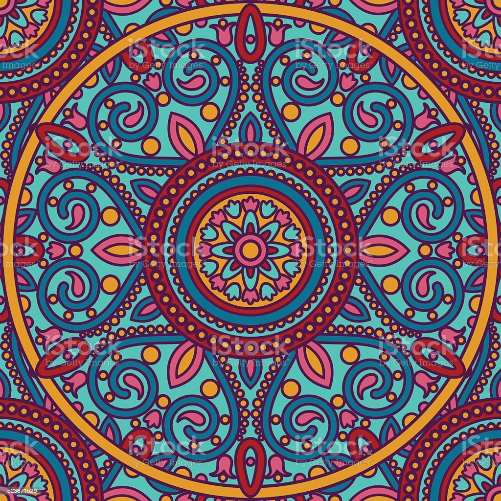 mandala pattern vector art illustration