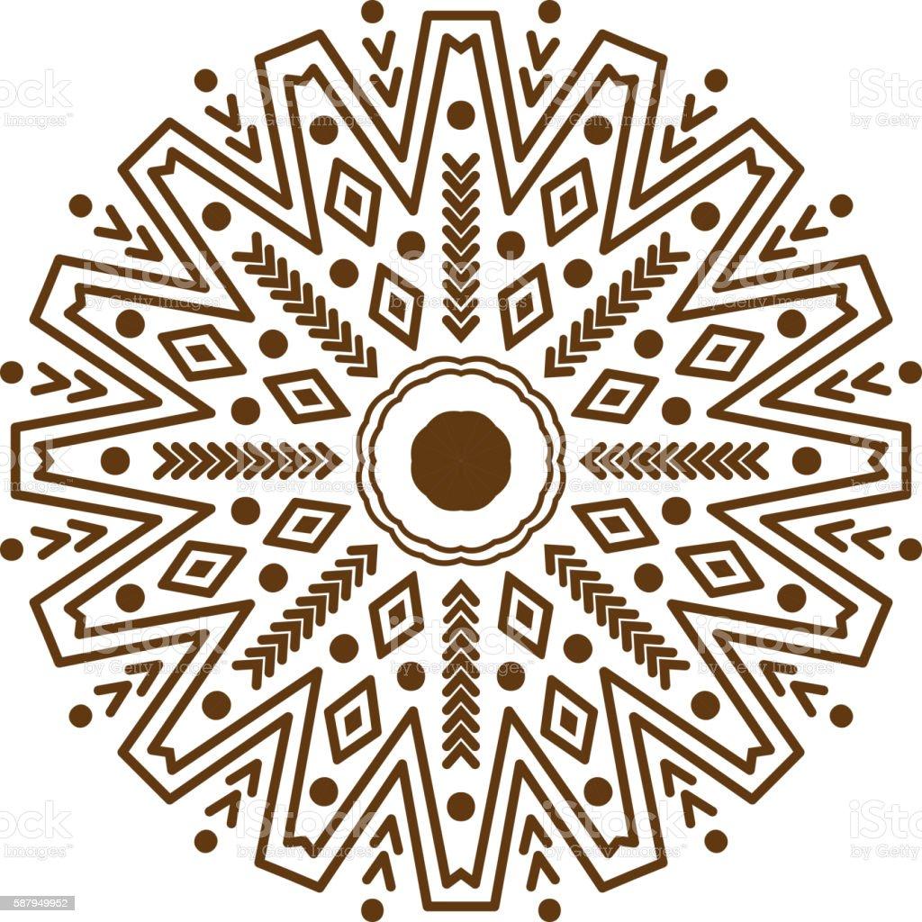 Mandala pattern vector vector art illustration