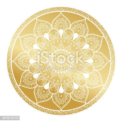 Mandala pattern.Arabic Vintage decorative ornament.Mandala gold background.