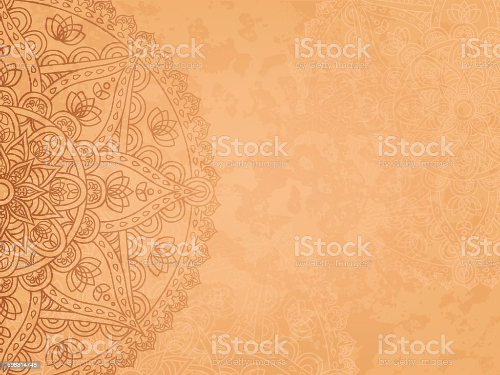 Mandala retro background vector art illustration