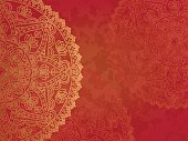 Mandala retro red background