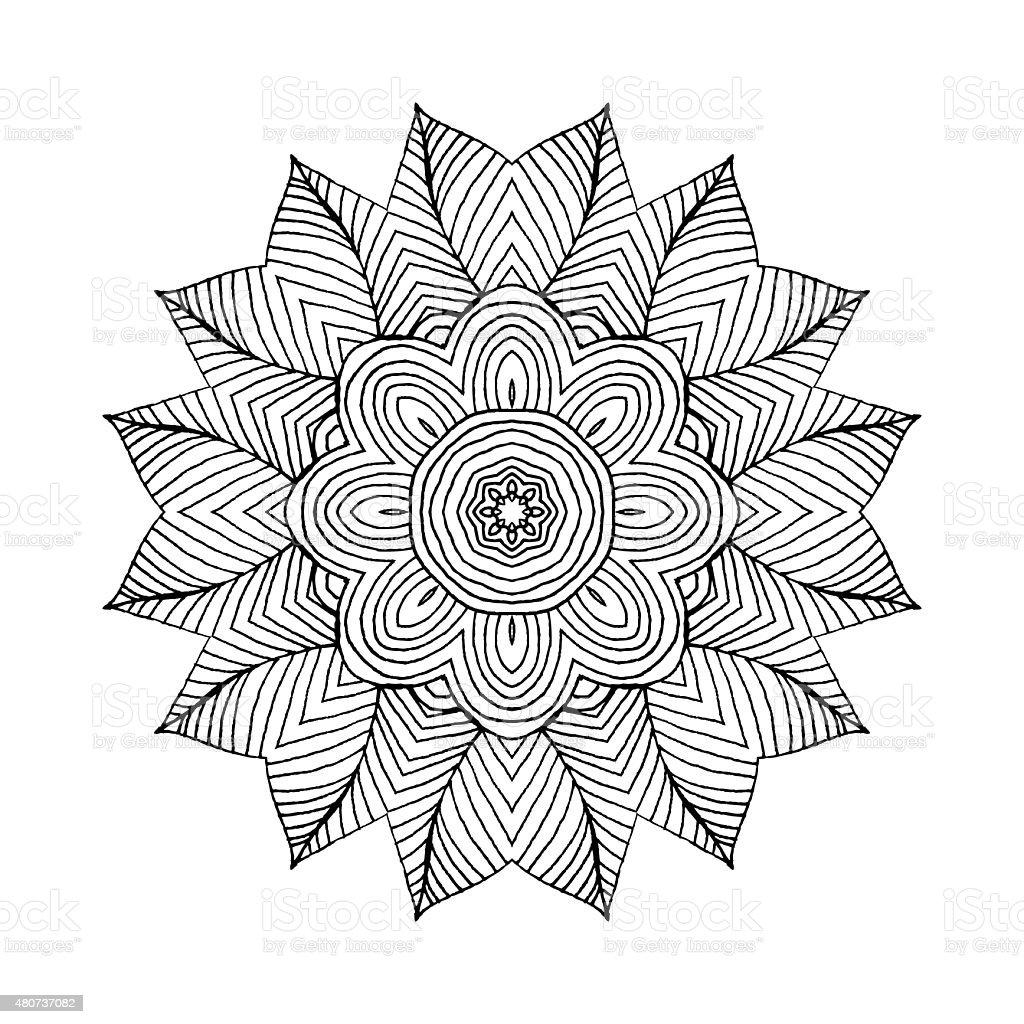 mandala runde orientalischen muster im indischen stil stock vektor art und mehr bilder von 2015. Black Bedroom Furniture Sets. Home Design Ideas