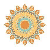 Mandala. Round Ornament Pattern.  Hand drawn background.