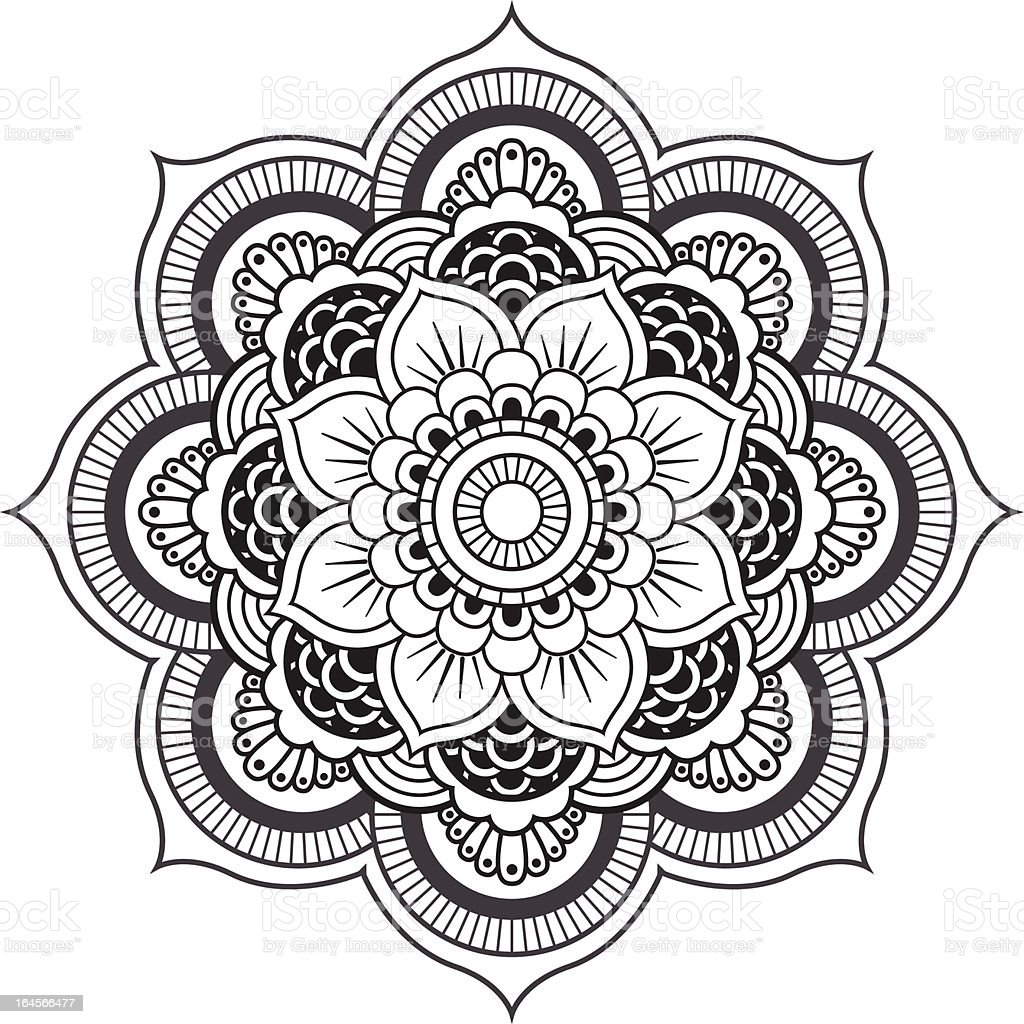 Mandala. Round Ornament Pattern vector art illustration
