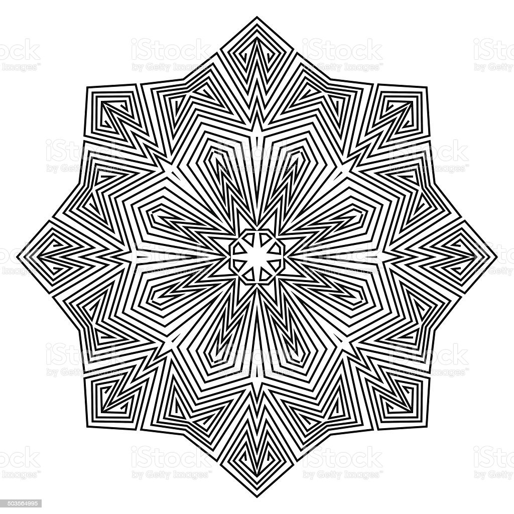 Mandala. Round Ornament Pattern. vector art illustration