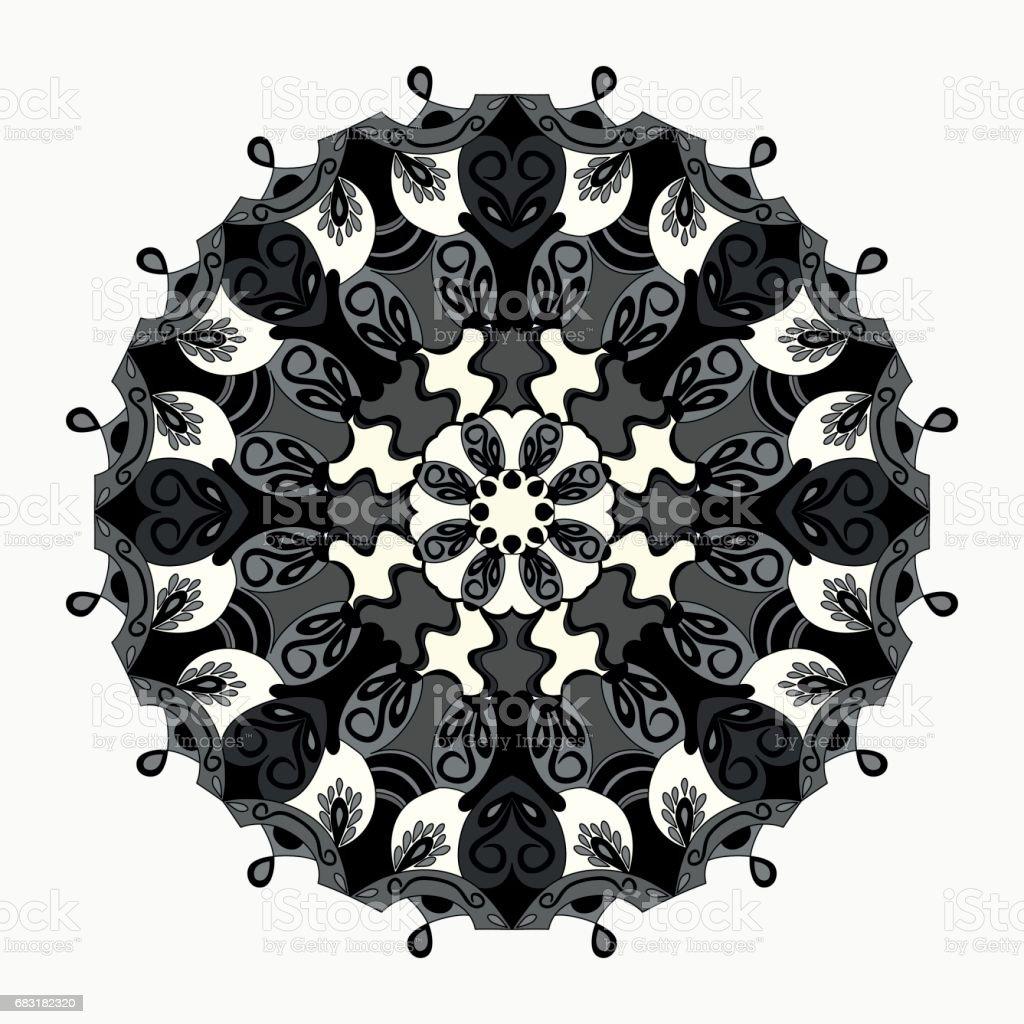 Mandala. Round Ornament Pattern. Vintage decorative elements. 免版稅 mandala round ornament pattern vintage decorative elements 向量插圖及更多 亞洲和印度人 圖片
