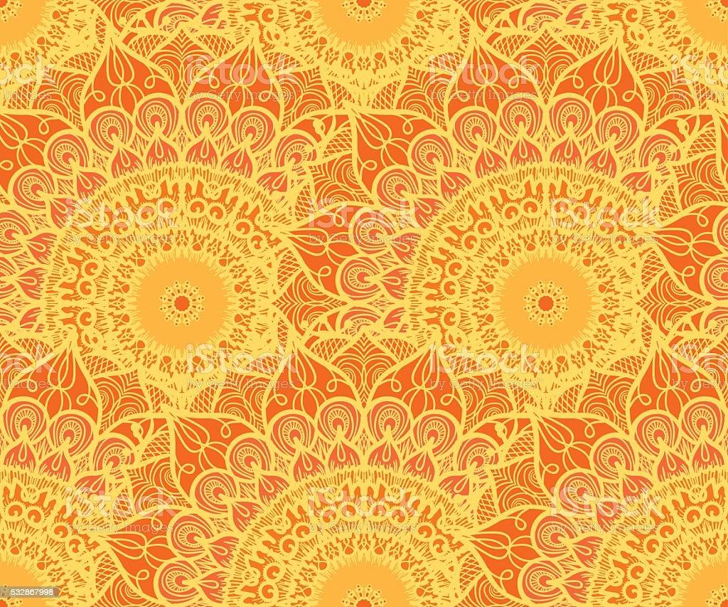 Mandala Seamless Pattern vector art illustration