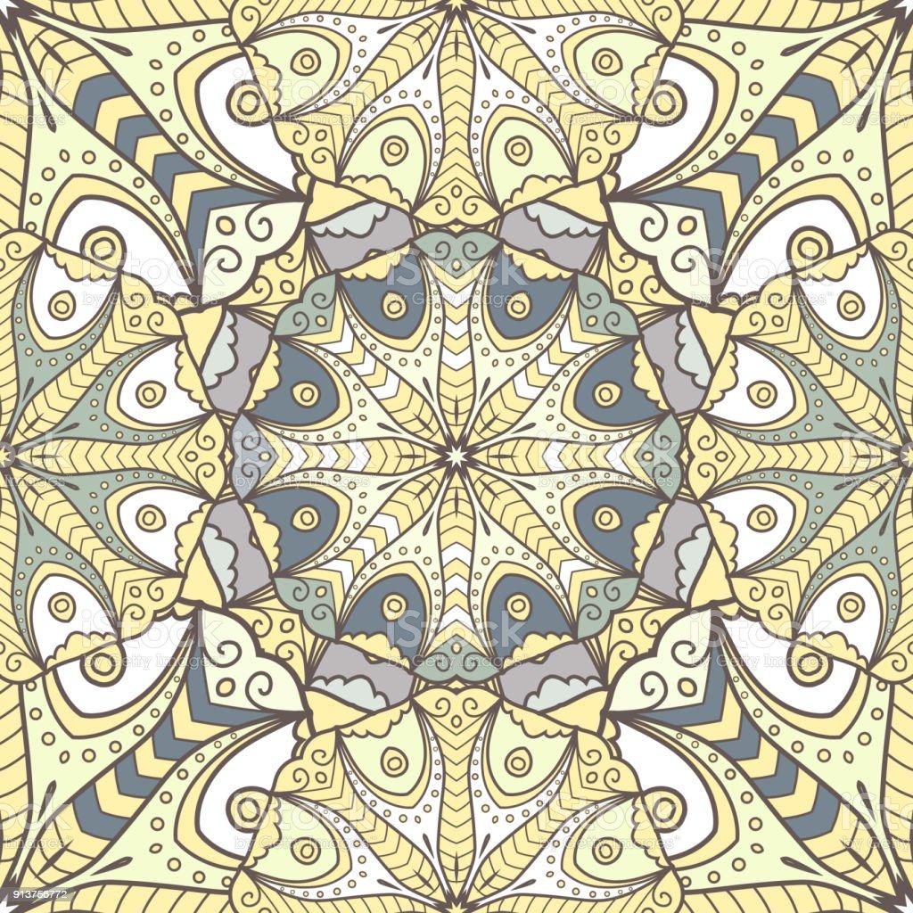 Ilustración de Mandala Patrón Perfecto y más banco de imágenes de ...