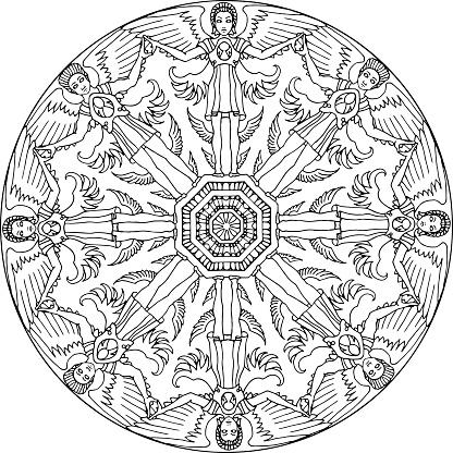 Mandala Seraphim Statue