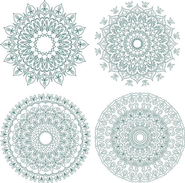 Mandala set. Vintage decorative elements. vector art illustration