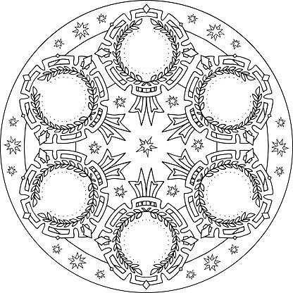 Mandala Shiny Medals