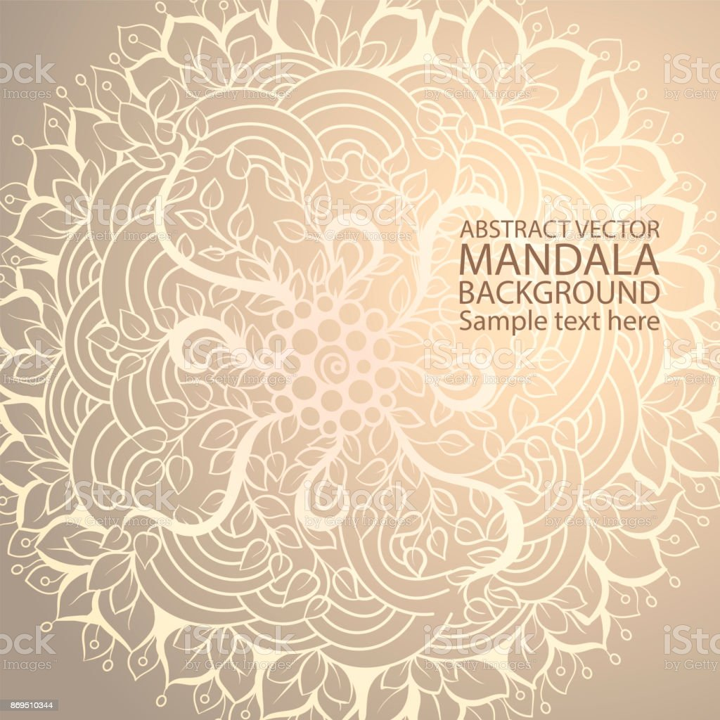 Mandala Einfache Dünne Linie Stilvollen Rahmen Ornamentale Vektor ...