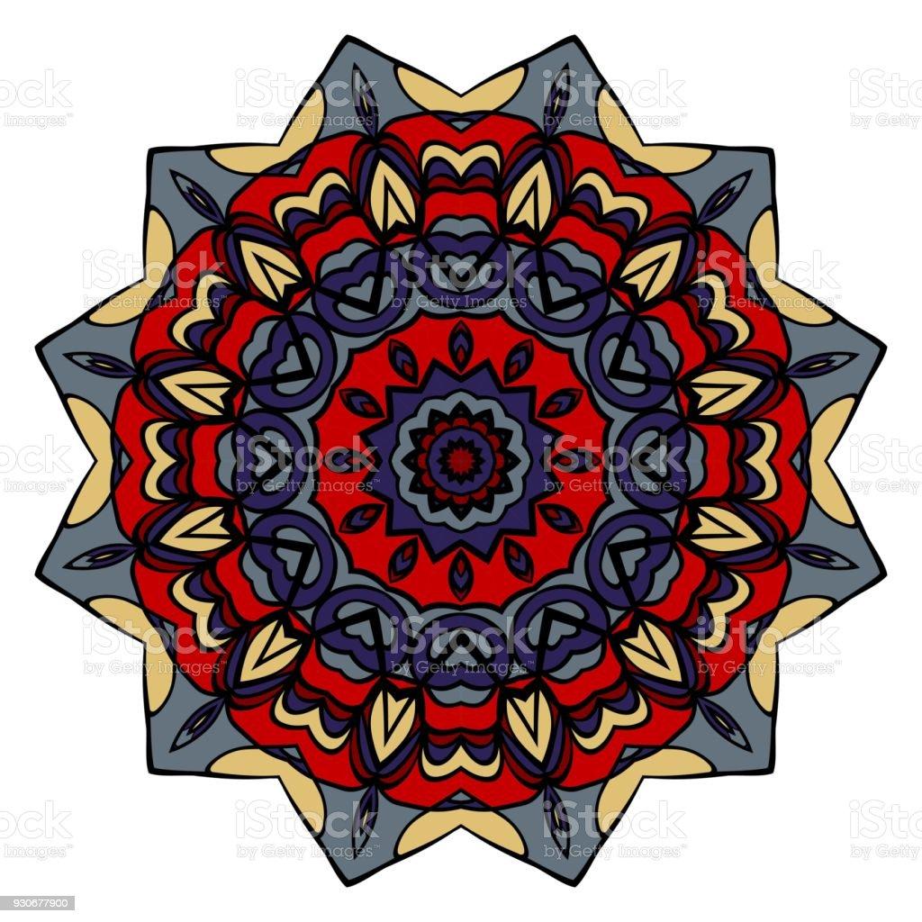 Mandala Stijl Kleur Vormen Abstract Ontwerp Decoratie Voor Mode