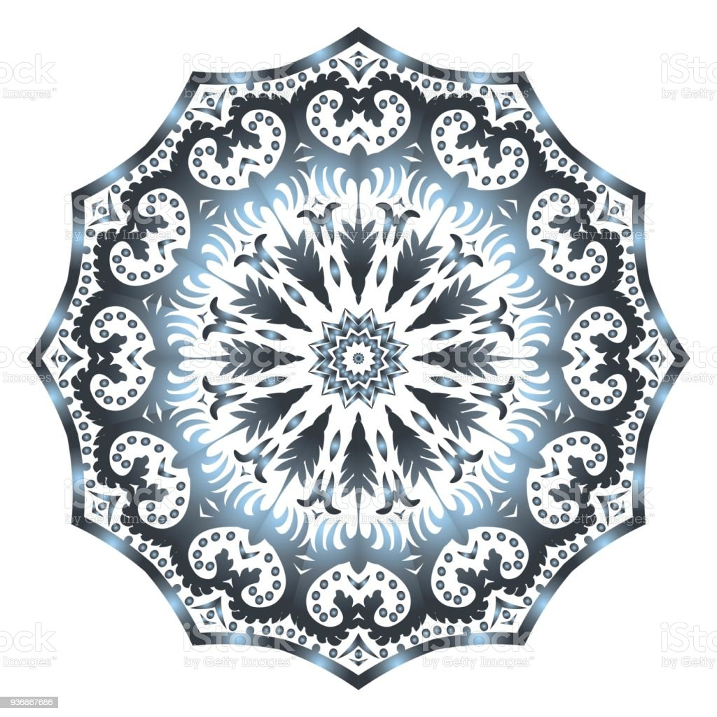 Mandala Style Vector Shapes Decorative Cicle Ornament Floral