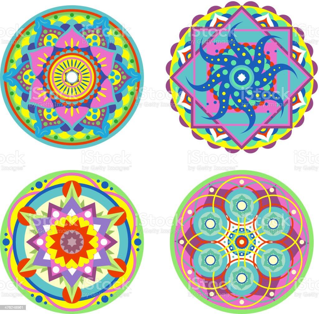 Mandala Symmetry Enlightenment Ritual Symbol vector art illustration