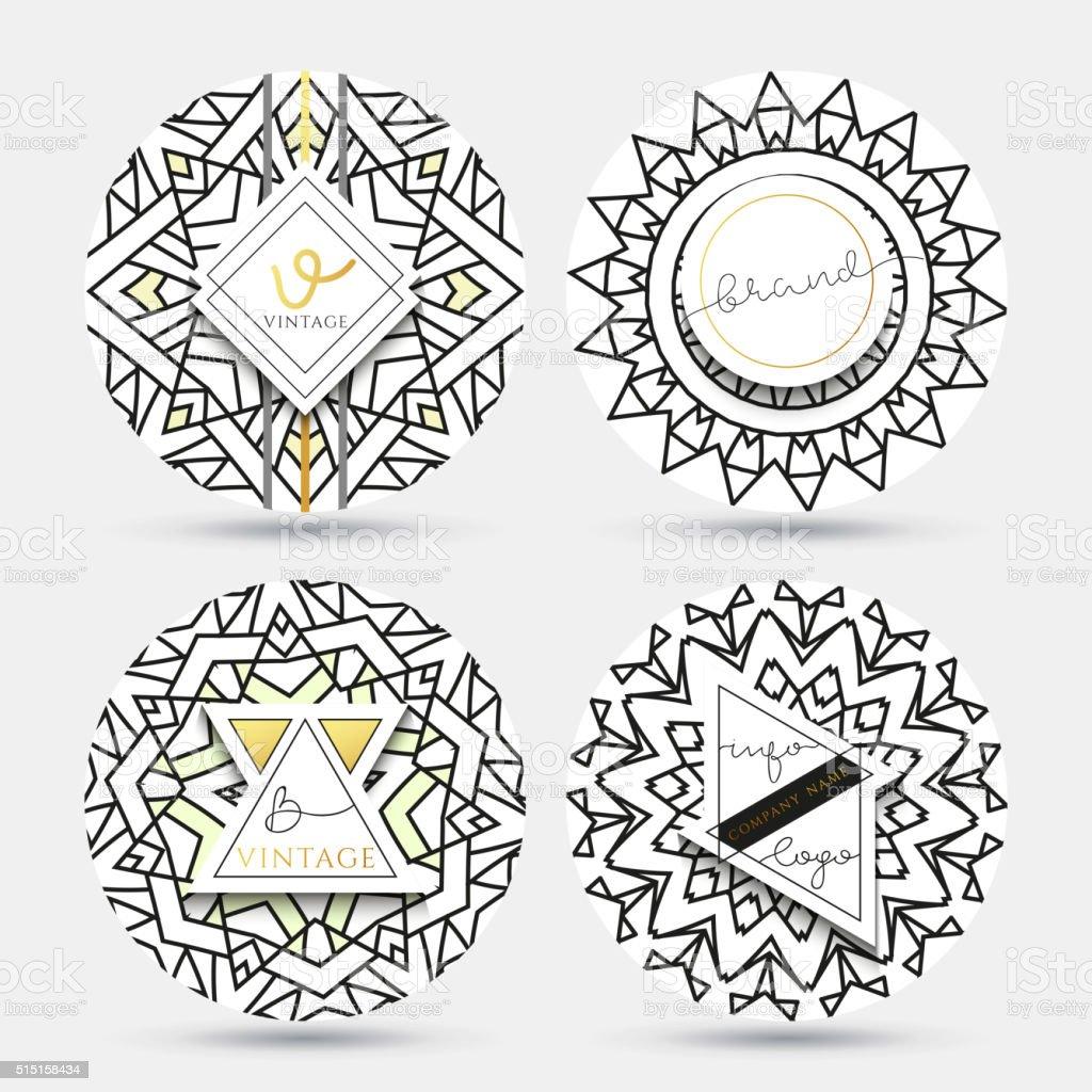 Mandala Modello Una Serie Di Semplici Modelli Con Una Decorazione Immagini Vettoriali Stock E Altre Immagini Di Affari Istock