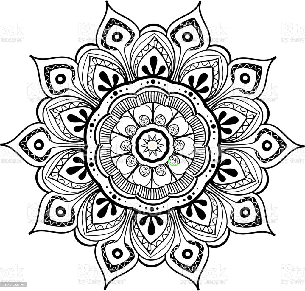 mandala vector design element round ornament decoration colorful flower pattern stylized floral. Black Bedroom Furniture Sets. Home Design Ideas