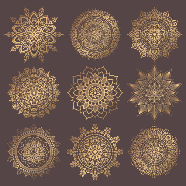 bildbanksillustrationer, clip art samt tecknat material och ikoner med mandala vektor design element collection - mandala