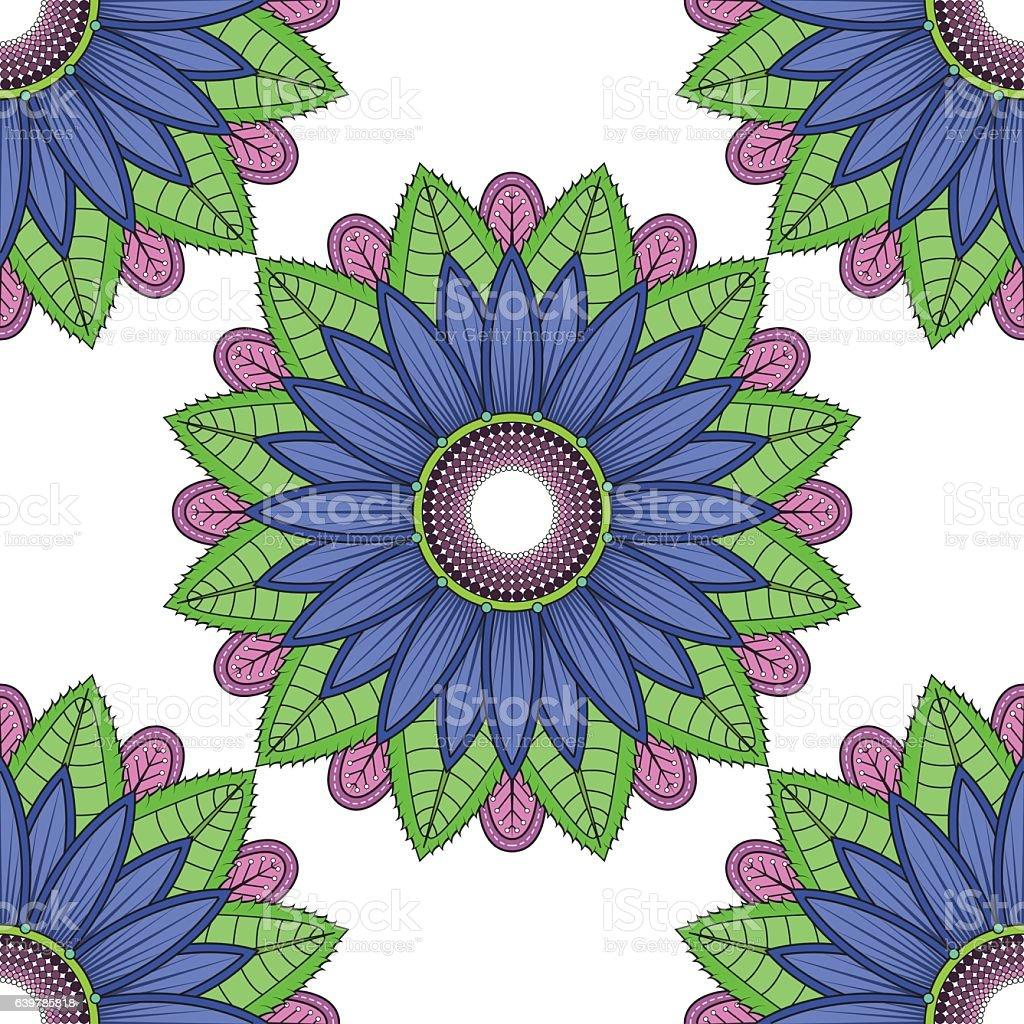 Mandala Vector Floral Pattern Color Flower Oriental Royalty Free