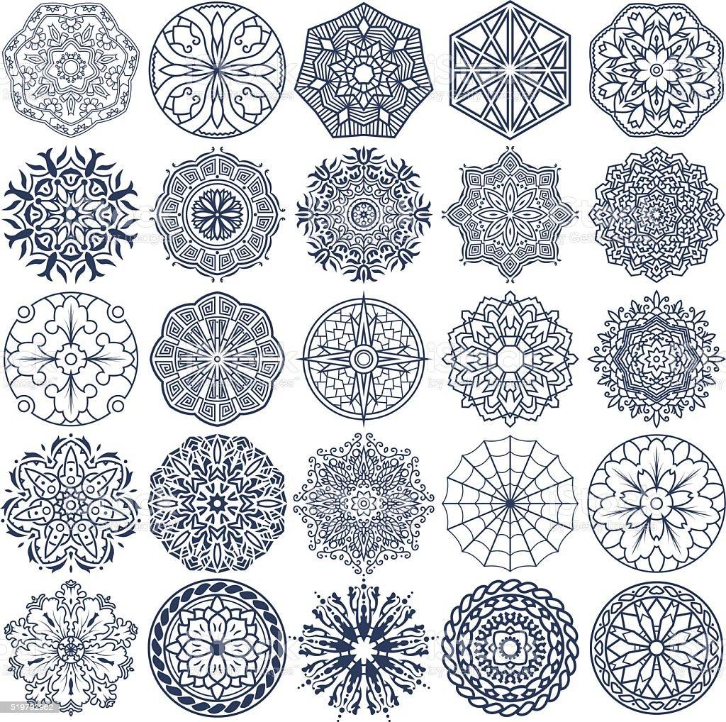 Mandala de Vector de de ornamentos 3 - ilustración de arte vectorial
