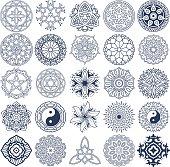 Mandala Vector Ornaments Set 4