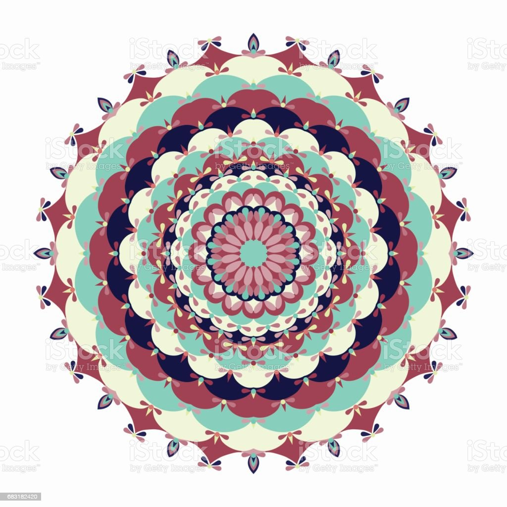 Mandala. Vintage decorative elements. royalty-free mandala vintage decorative elements 0명에 대한 스톡 벡터 아트 및 기타 이미지